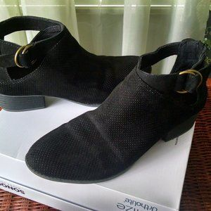 Arizona Cut Out Suede Boot   9 m